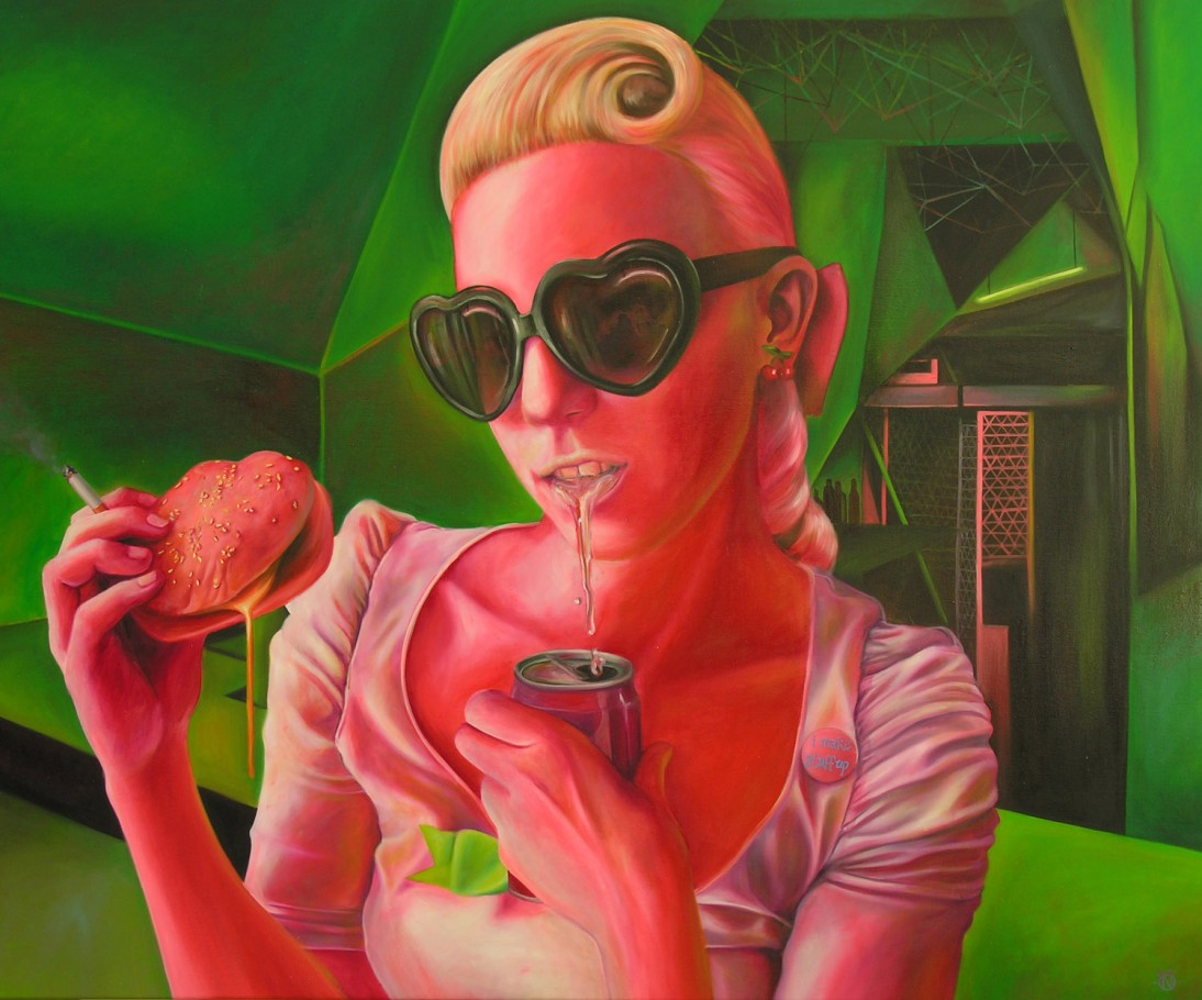 I make stuff up 140x170 cm oil on canvas 2011