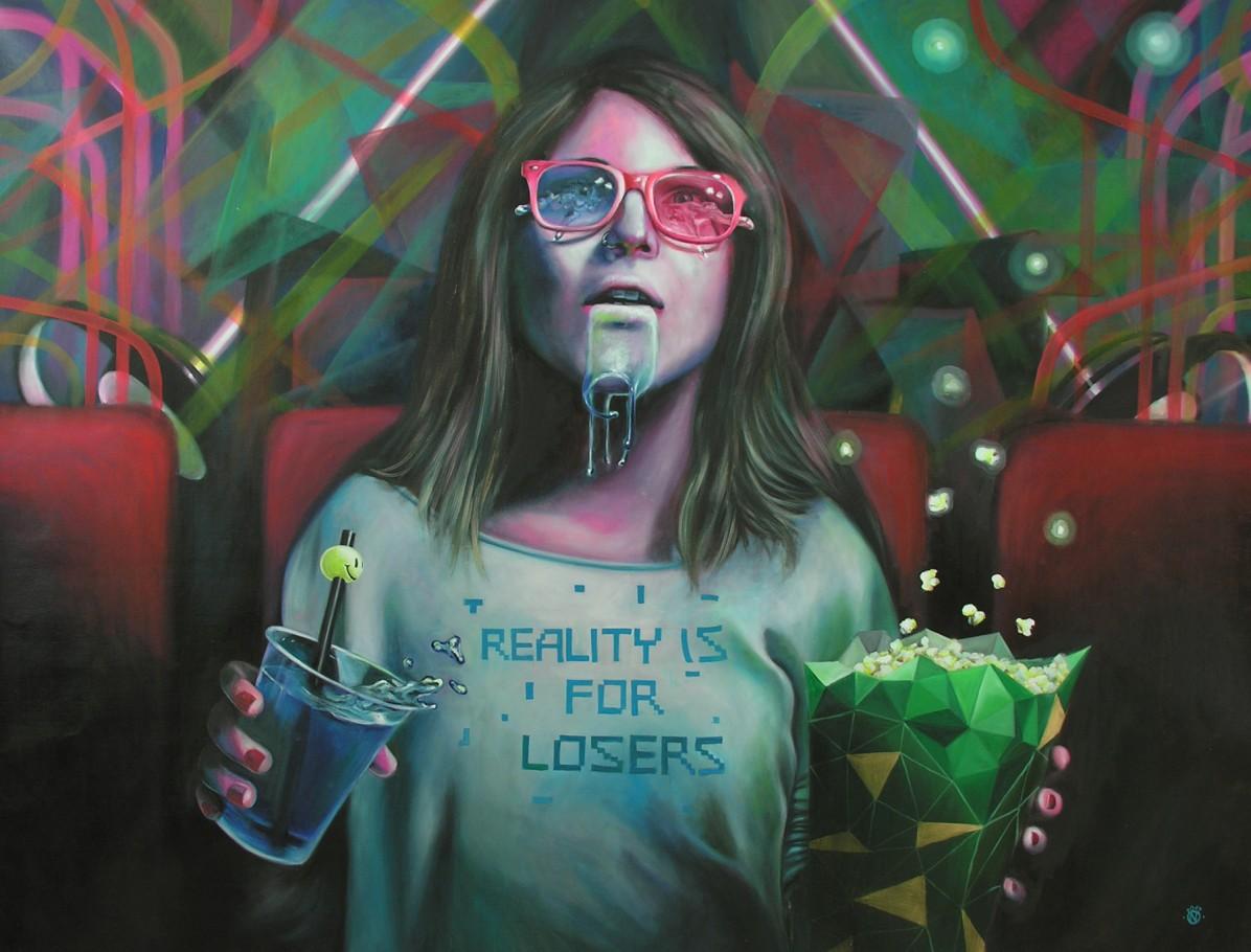 Popcorn Metamorphose 120x160 cm oil on canvas 2012