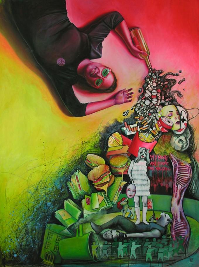 Nights of Cabiria 140x190 cm Oil on canvas 2011