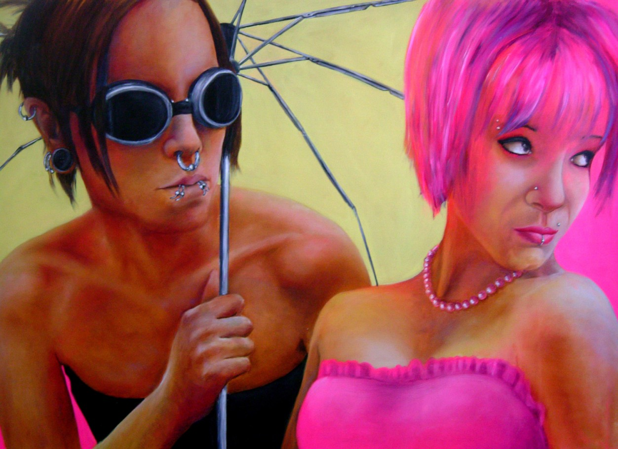 The parasol 150x100 cm oil on canvas 2006