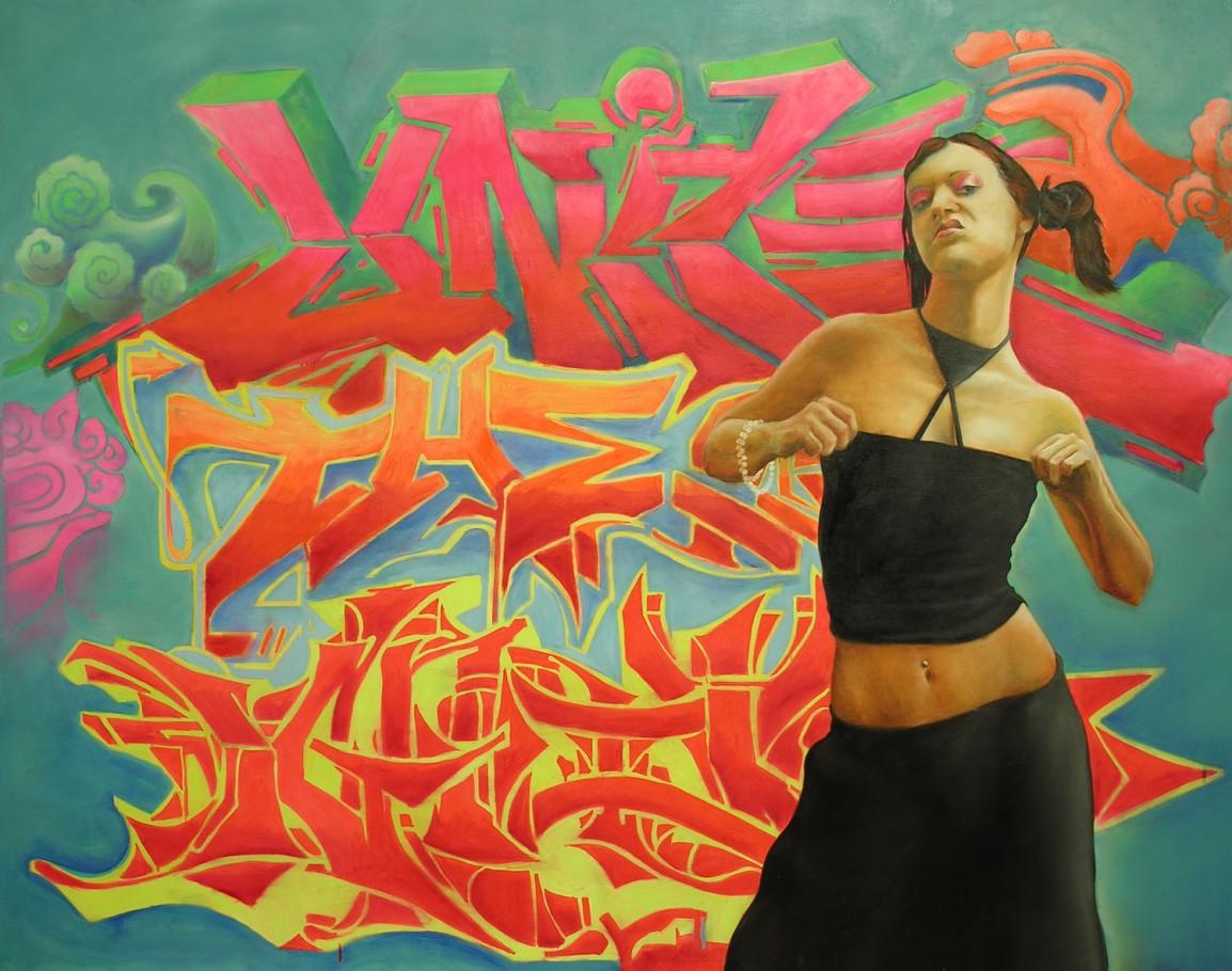Hip-hop Girl 160x130 cm oil on canvas 2006