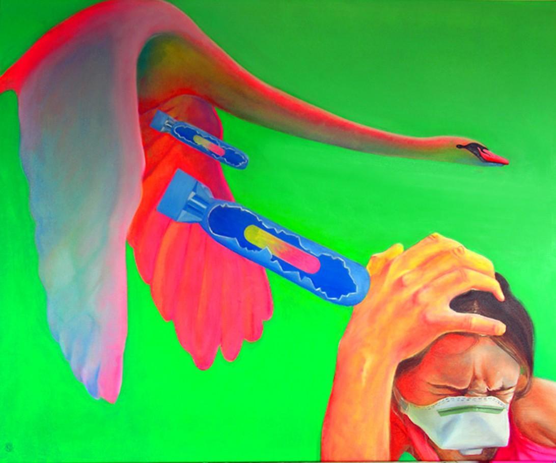 H5N1 130x110 cm oil on canvas 2007