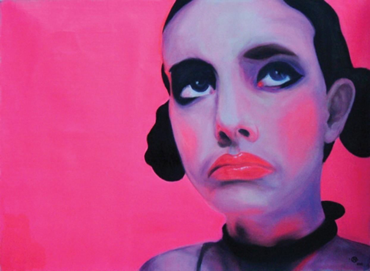 Cyber Girl 110x80 cm oil on canvas 2004
