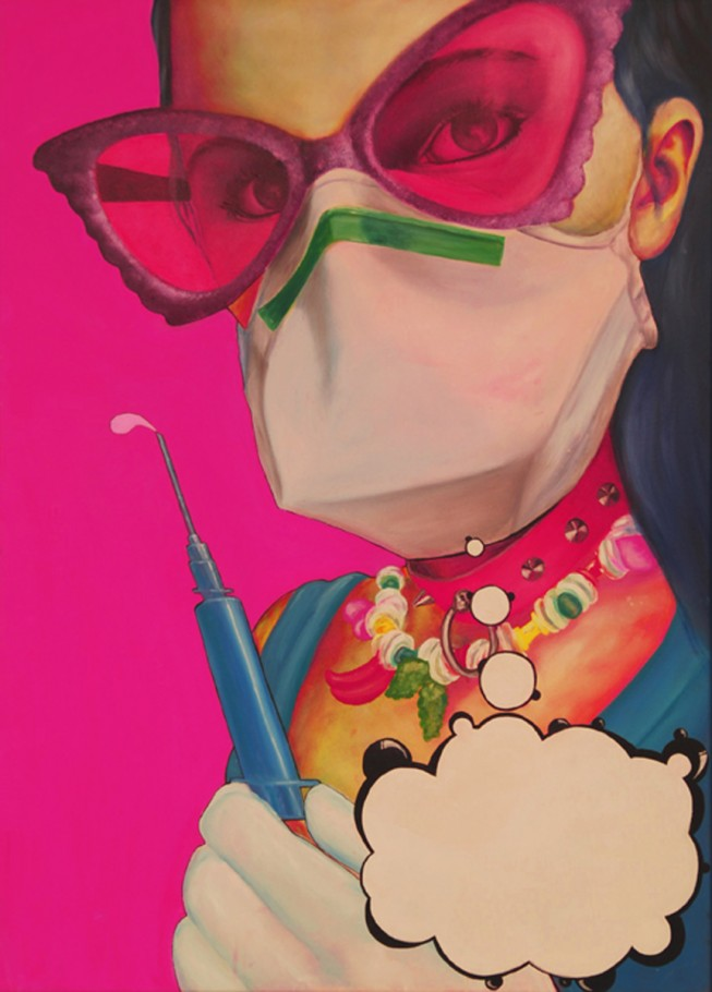 Virus 80x60 cm oil on canvas 2006