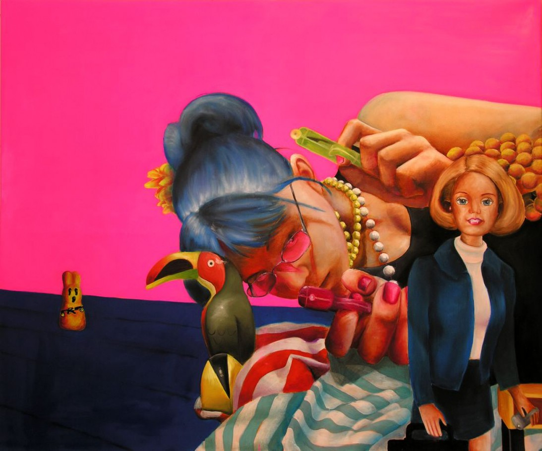 Ceo Barbie 90x120 cm oil on canvas 2006