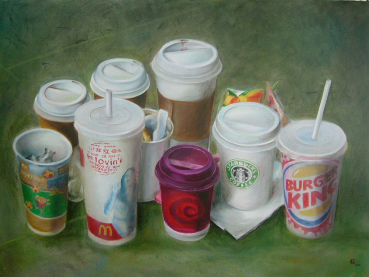 Cups 110x90 cm oil on canvas 2005