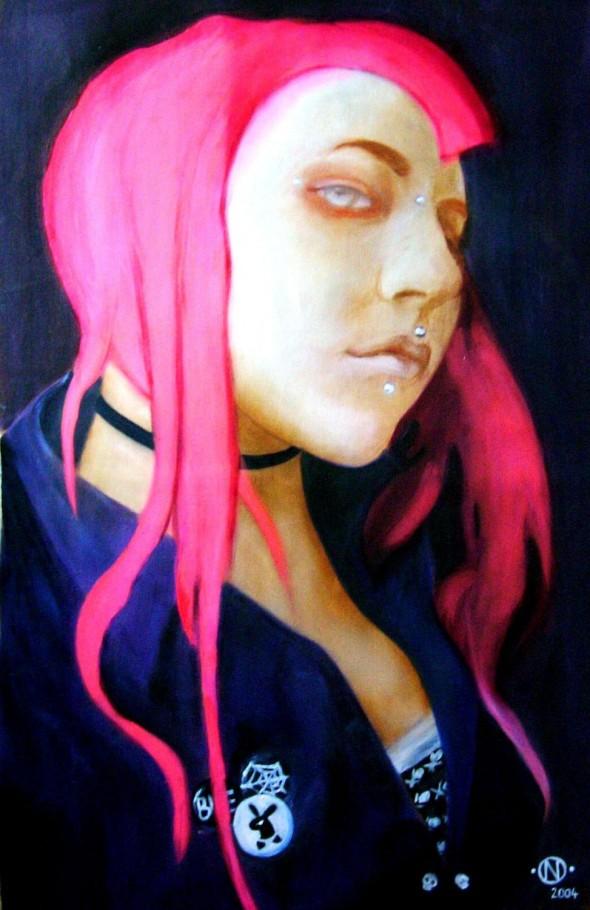 Diavolina 80x100 cm oil on canvas 2005