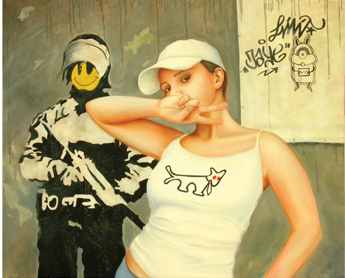 Street art 140x115 cm oil on canvas 2007