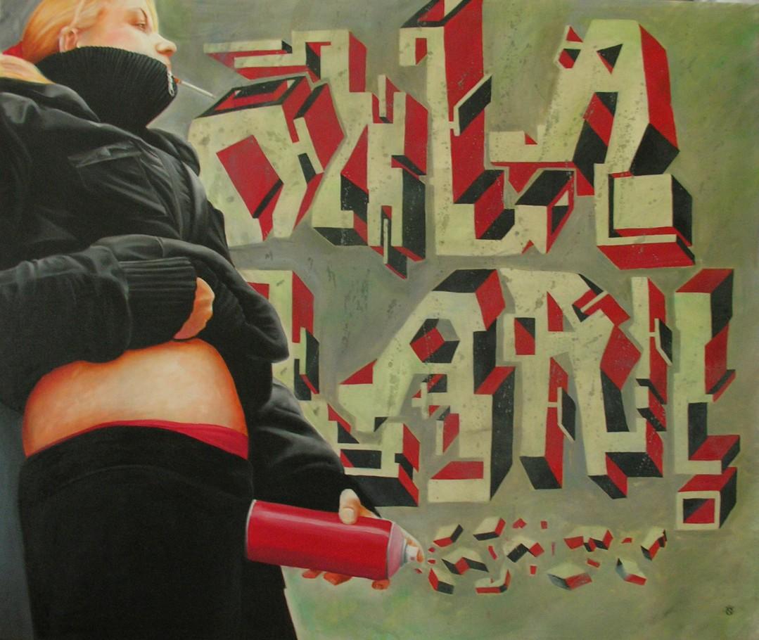 Ohlalaa! 140x120 cm oil on canvas 2007
