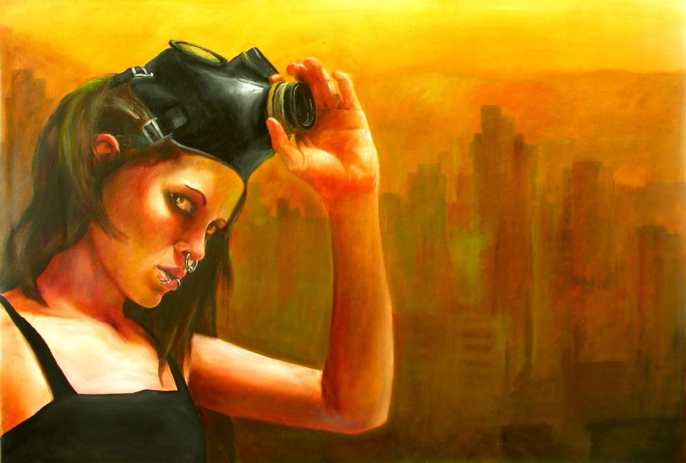 Smog 140x90 cm oil on canvas 2006