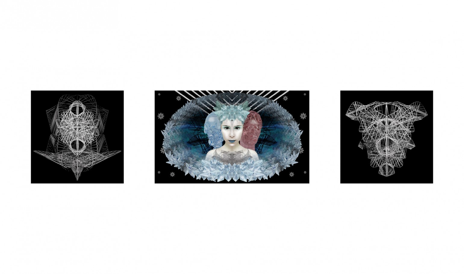 Ice queen 100x60 cm /60x60 cm digital print 3d 2011