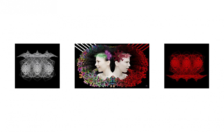 Janus 100x60 cm /60x60 cm digital print 3d 2012