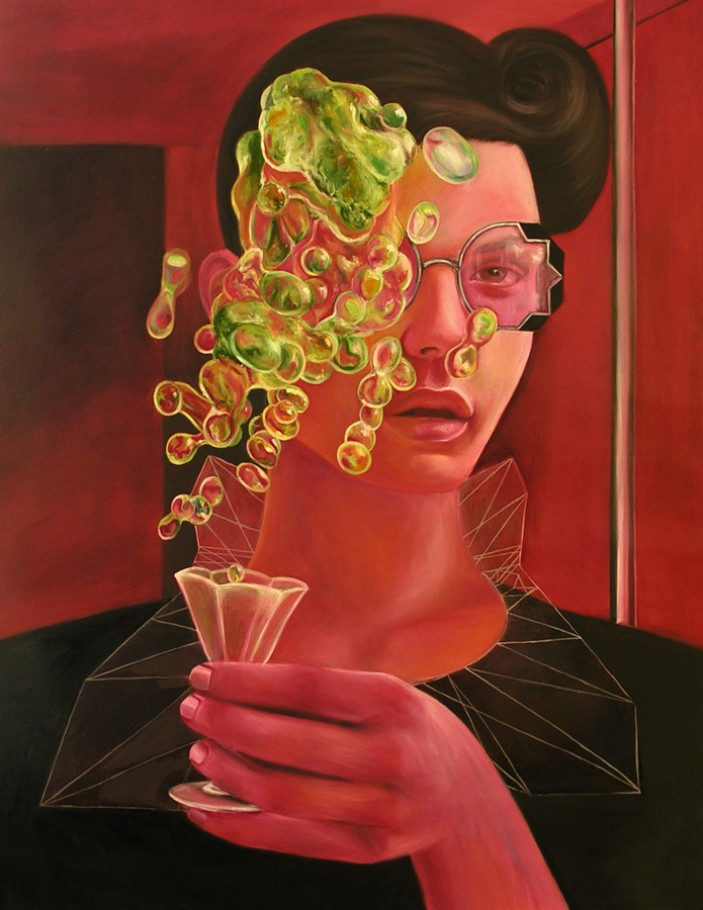 The absent absinthe 75x95 cm oil on canvas 2012