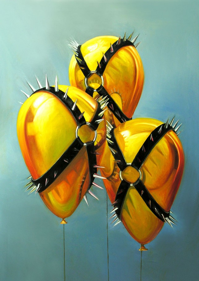Golden Balloons 60x100 cm oil on canvas 2015