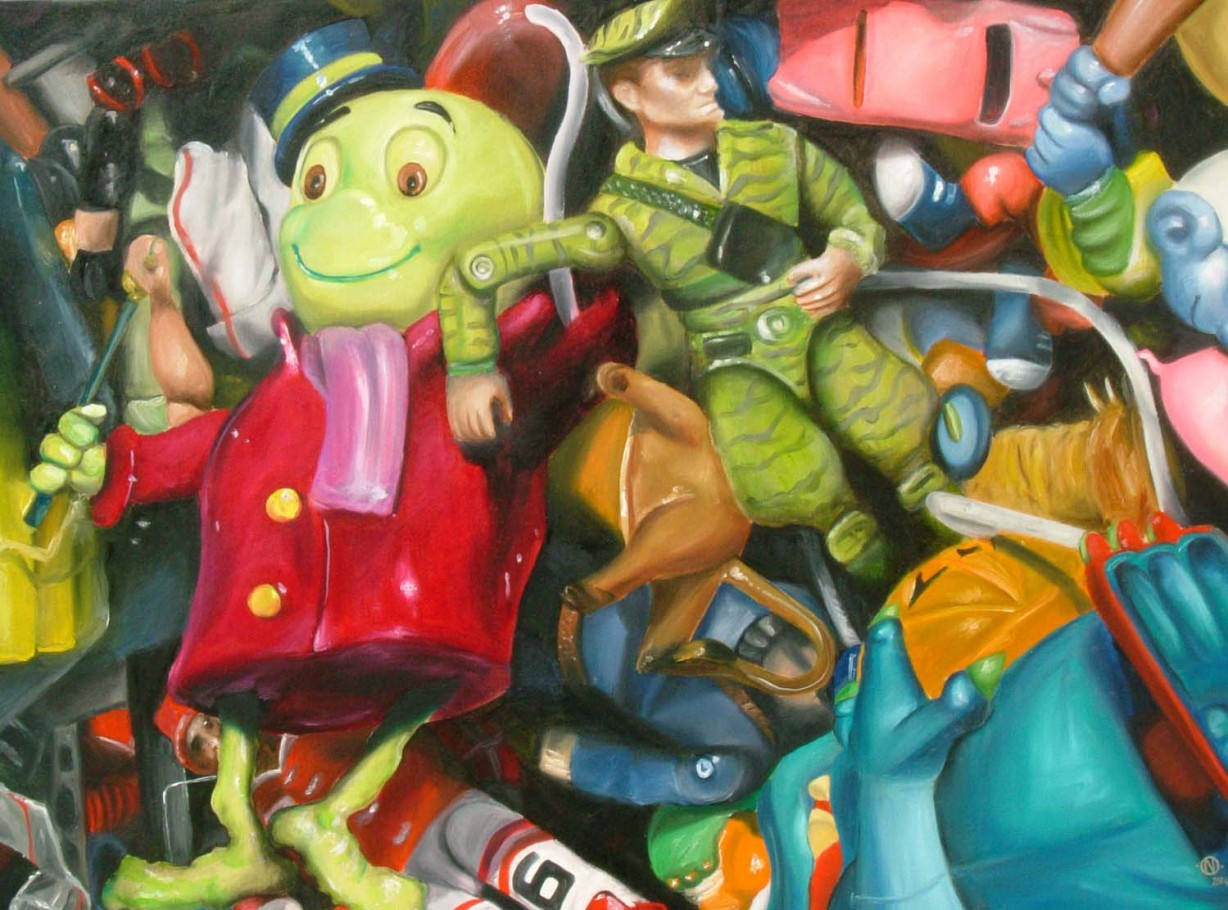 Plastic Horror 90x110 cm oil on canvas 2005