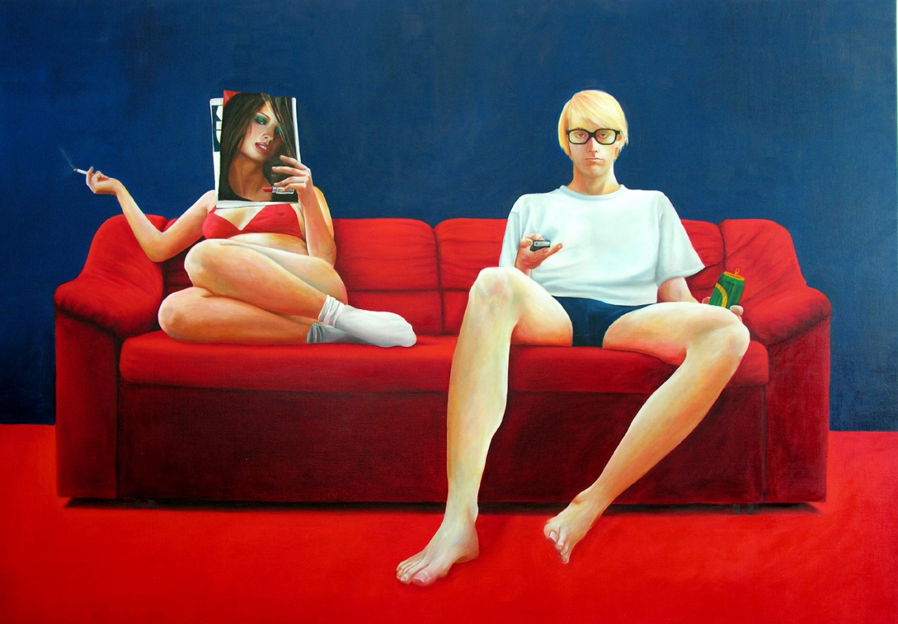 Sunday Afternoon 200x165 cm oil on canvas 2008