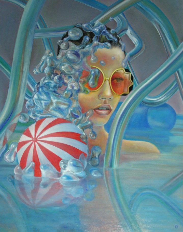 The great splash 150x120 cm oil on canvas 2012