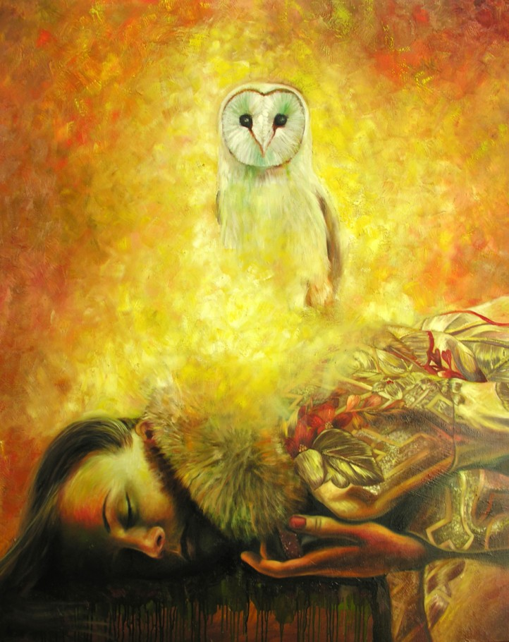 Owl 150x120 cm oil on canvas 2014