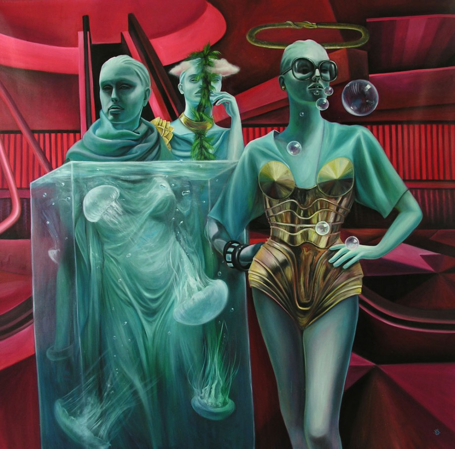 Three Graces 165x165 cm oil on canvas 2012