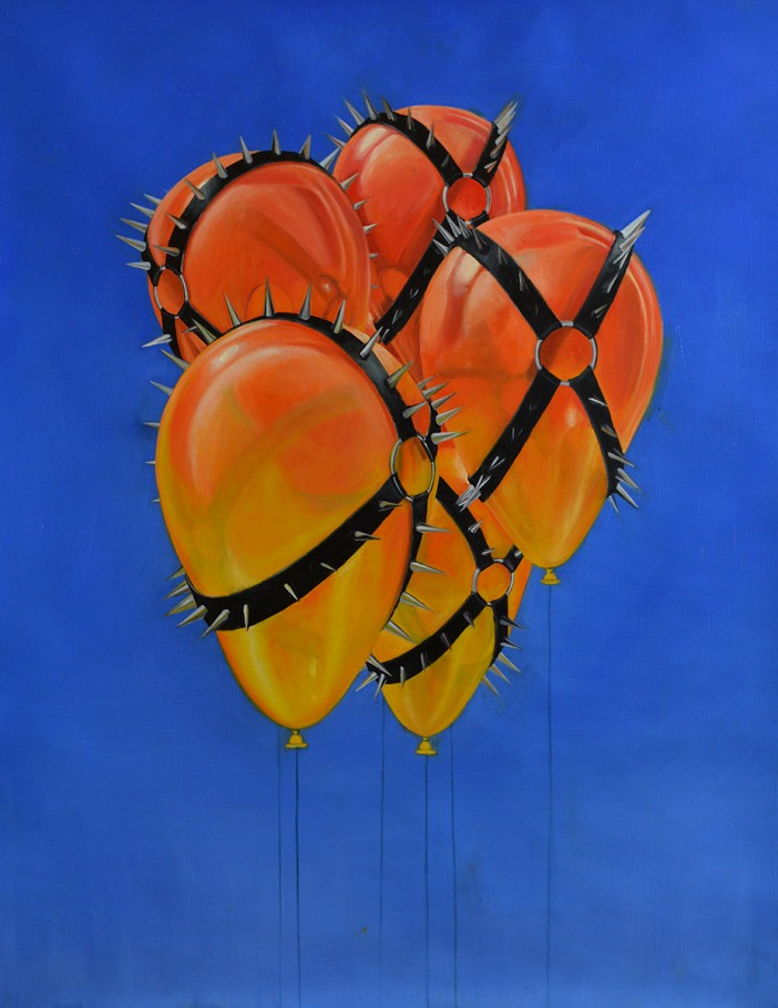 Ombre Balloons 75x115 cm oil on canvas 2015