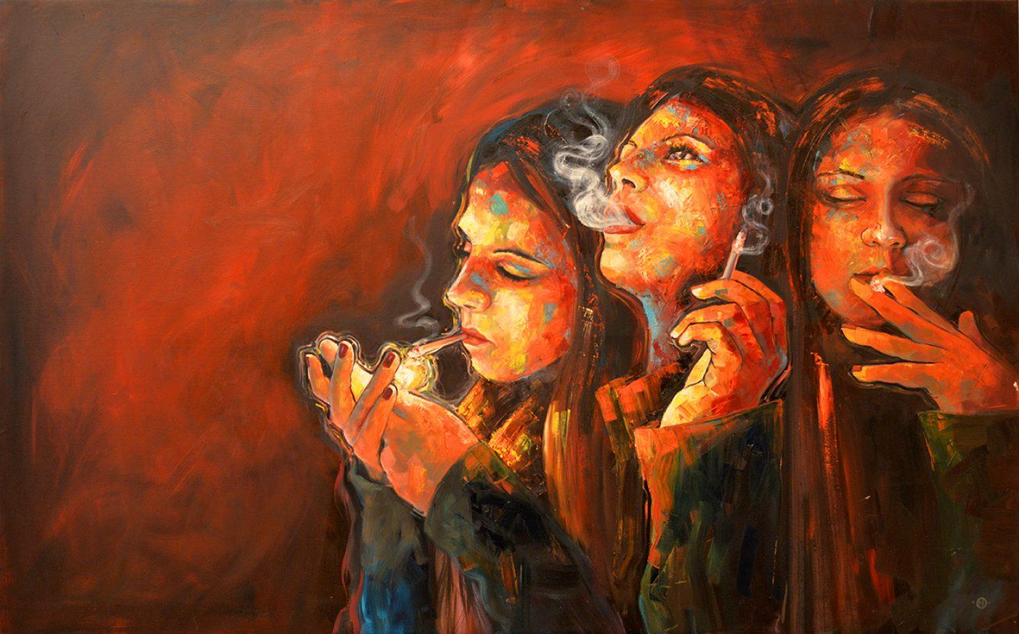 Anna 160x100 cm oil on canvas 2008/2017