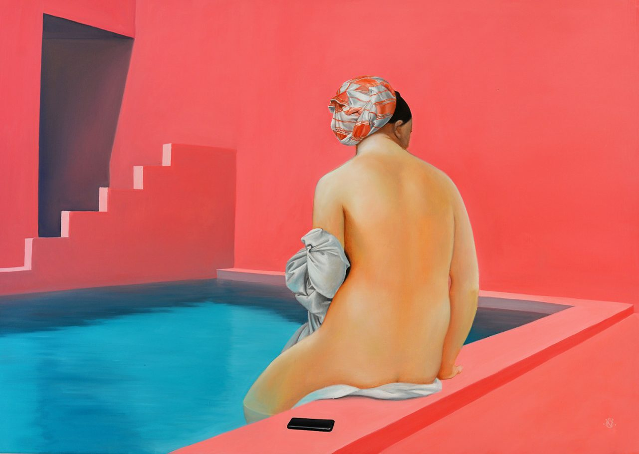 La Muralla Roja 85x120 cm oil on canvas 2017