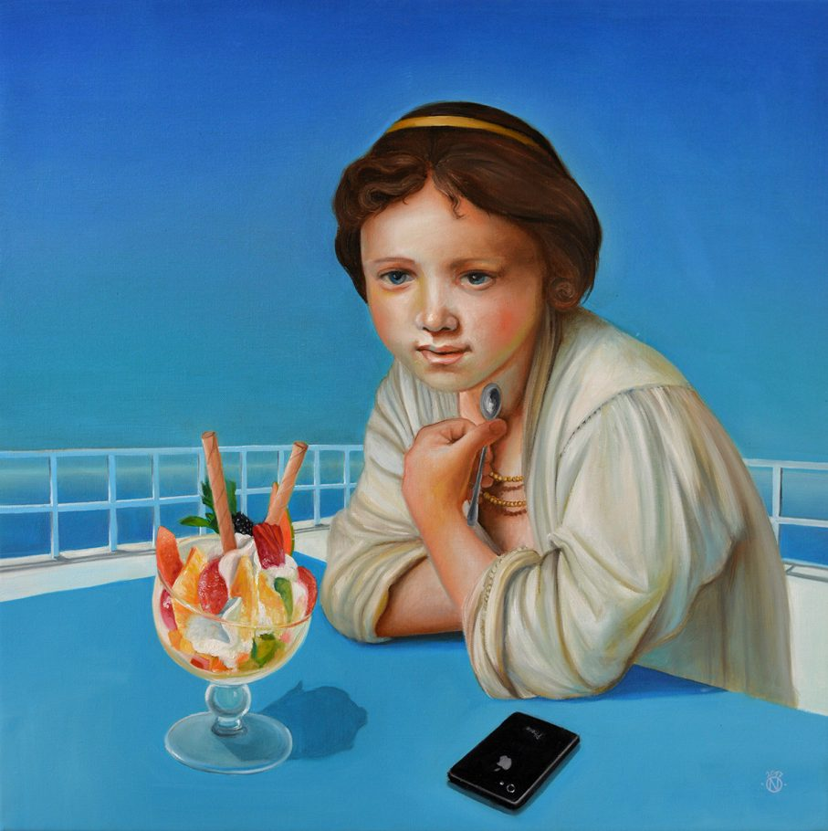 Mykonos 70x70 cm oil on canvas 2017