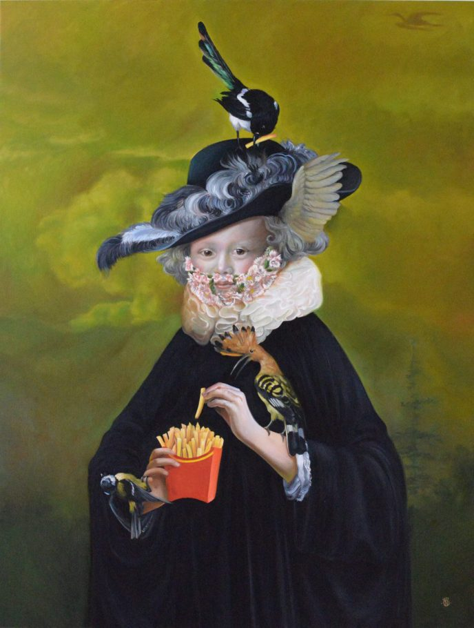 Mc Papageno 2. 130x100 cm oil on canvas 2017