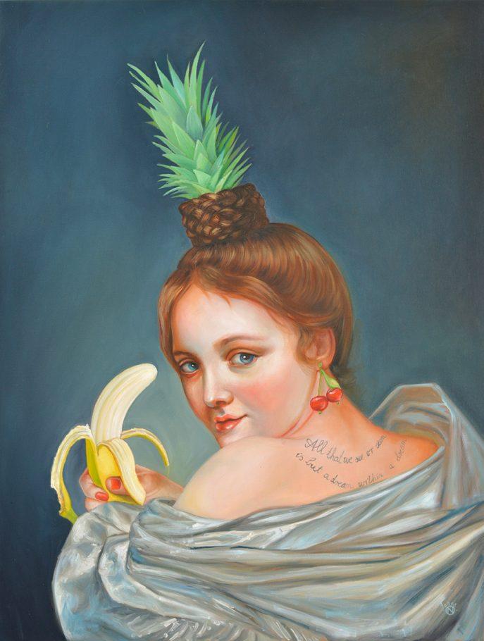 Cheeky Chiquita 85x65 cm oil on canvas 2018
