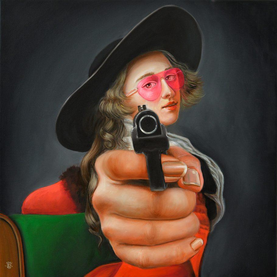 Desperada 50x50 cm oil on canvas 2018