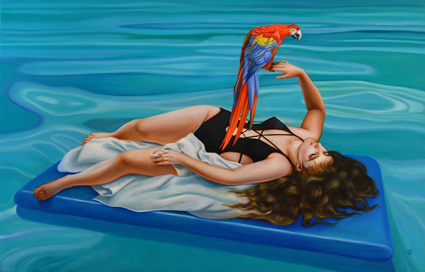 Floatie 90x140 cm oil on canvas 2018
