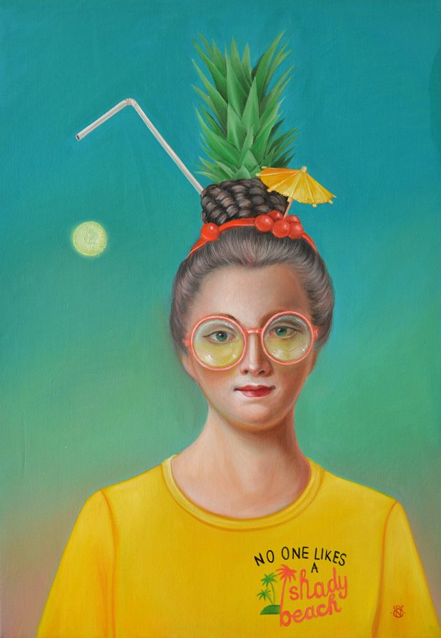 Springbreaker 48x68 cm oil on canvas 2018