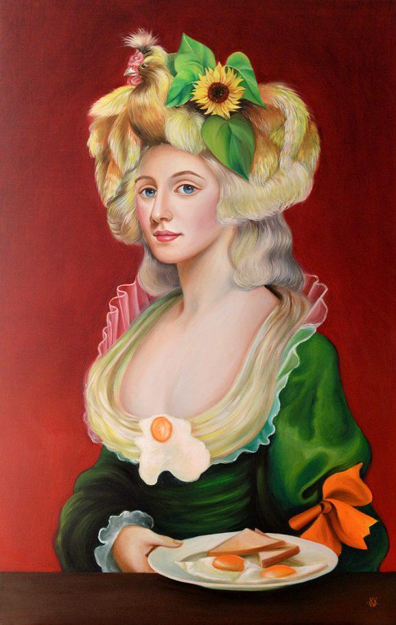 English Breakfast 70x110 cm oil on canvas 2018