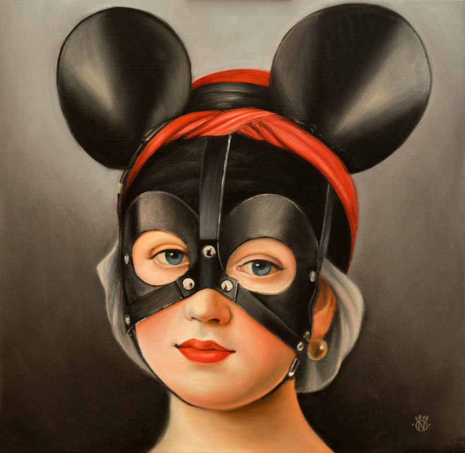 Minnie Mouse 40x40 cm oil on canvas 2018