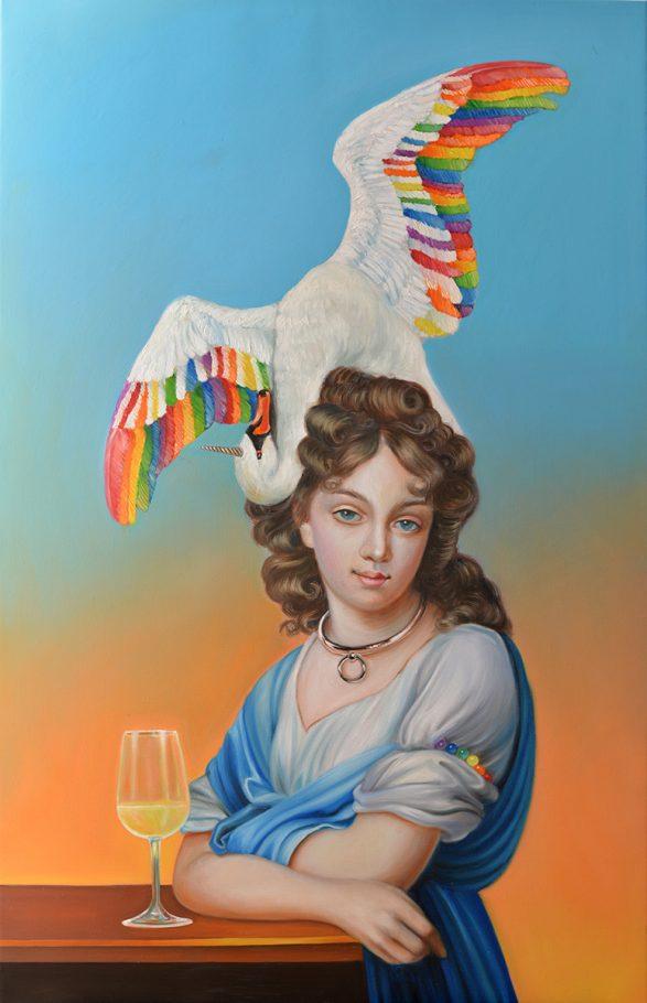 Rainbowswan 70x110 cm oil on canvas 2018