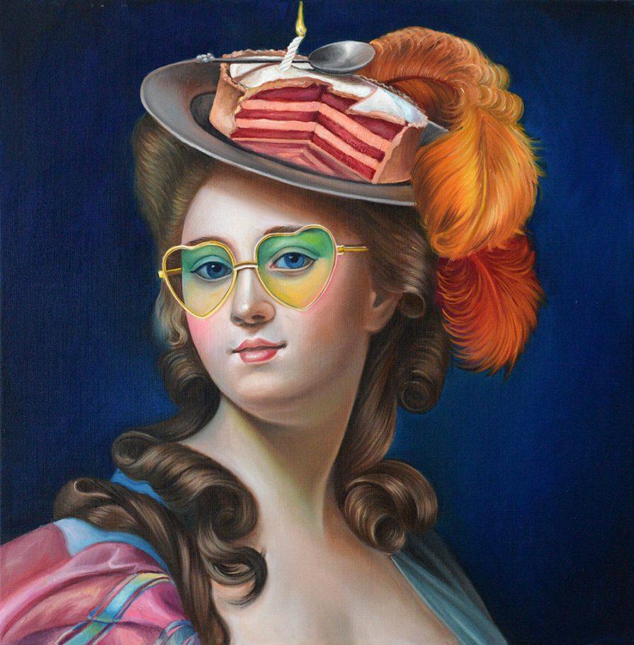 Birthday Girl 60x60 cm oil on canvas 2019