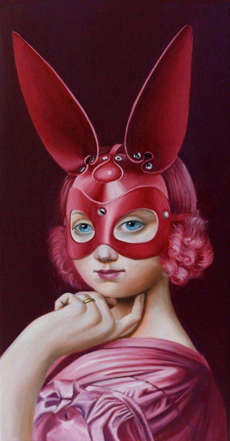 Ingres Bunny 25x50 cm oil on canvas 2019