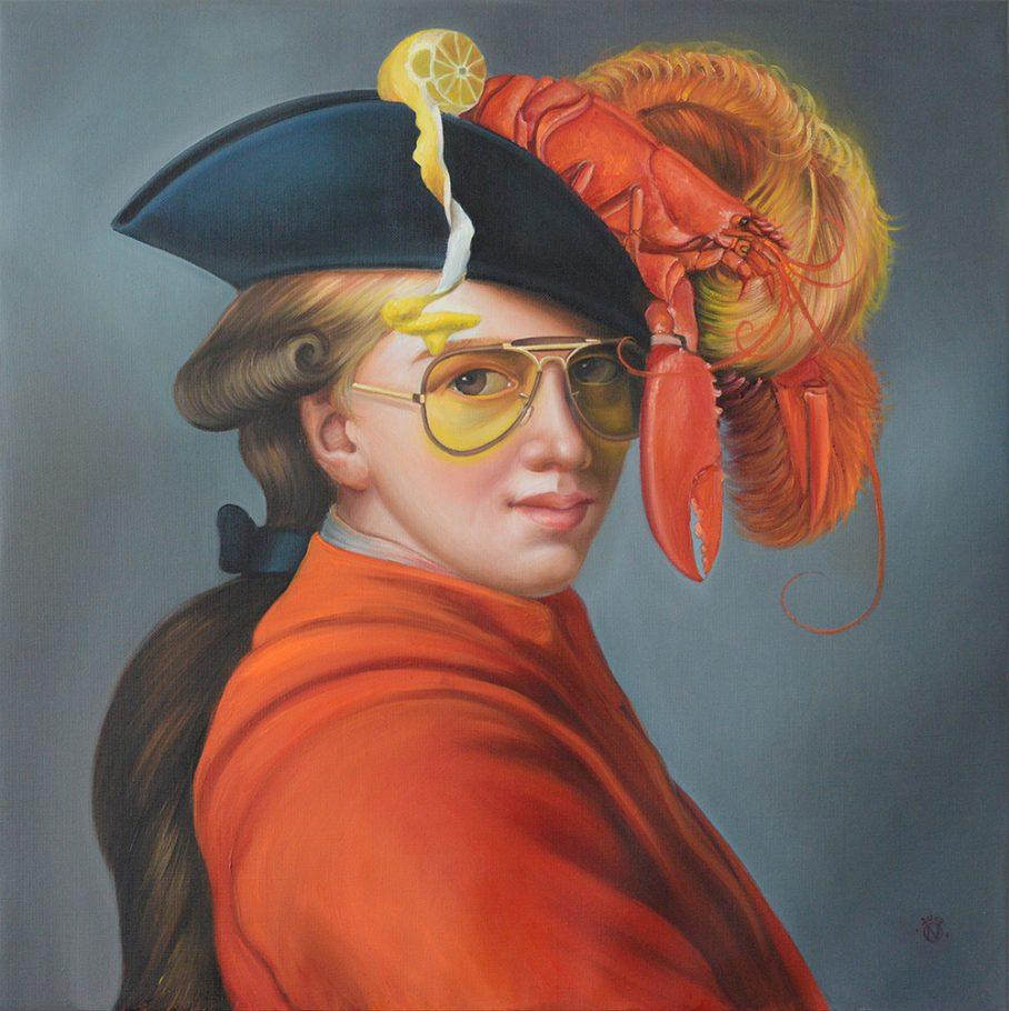 Lobster boy 60x60 cm oil on canvas 2019