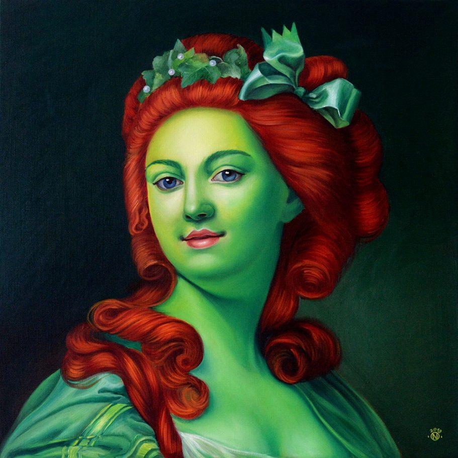 Poison Ivy 60x60 cm oil on canvas 2019