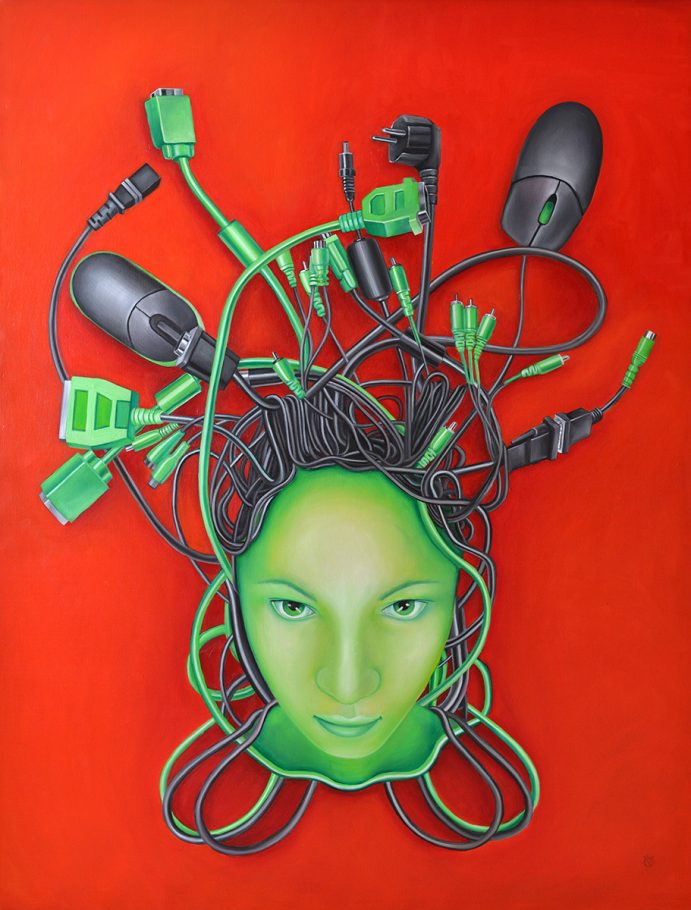 Medusa 130x180 cm oil on canvas 2008