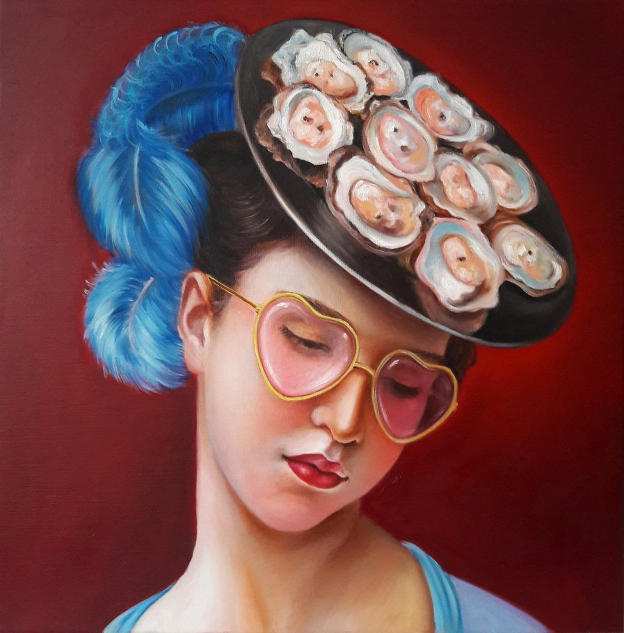 Oyster Lady 3 50x50 cm oil on canvas 2019