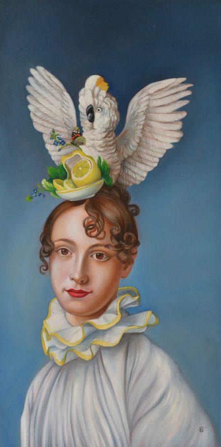 Limoncella 50x100 cm oil on canvas 2019