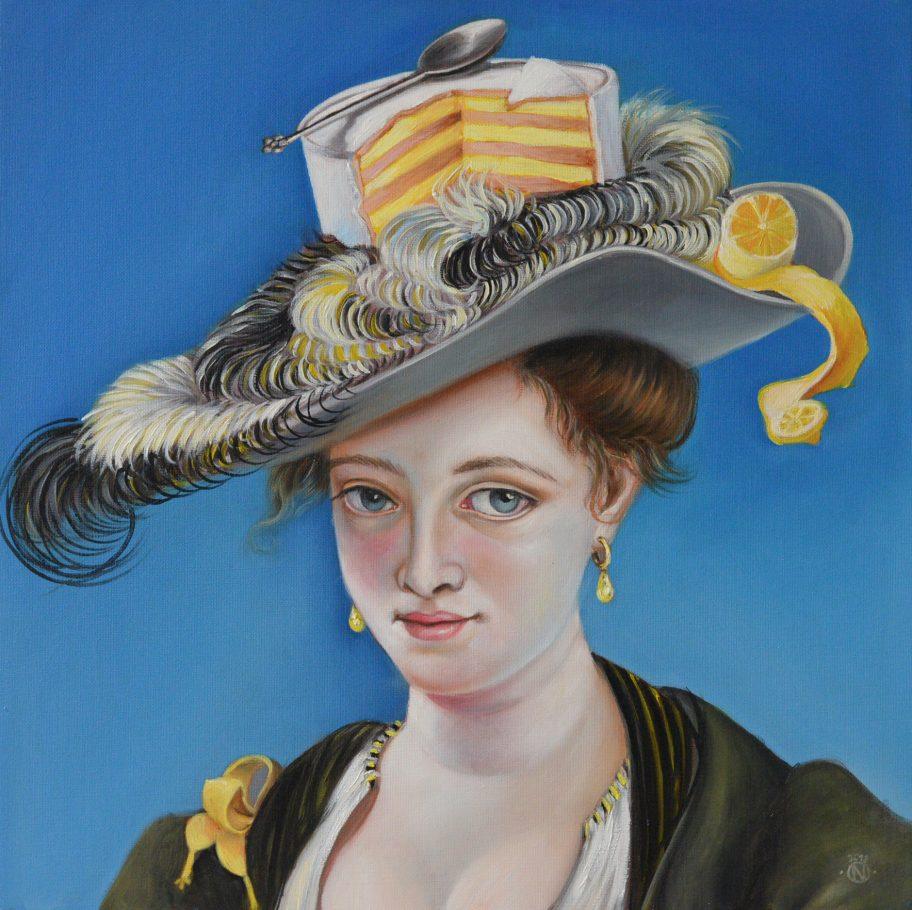 Birthday Girl 2. 50x50 oil on canvas 2019