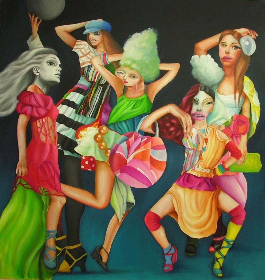 Demoiselles d`Avignon 190x190 cm oil on canvas 2007