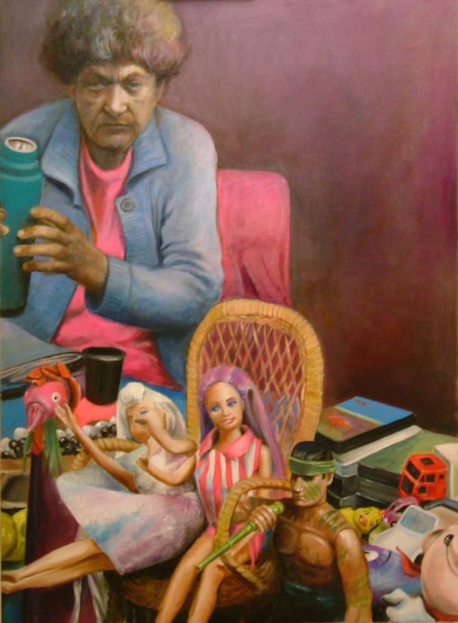 Flea Market 80x110 cm oil on canvas 2005