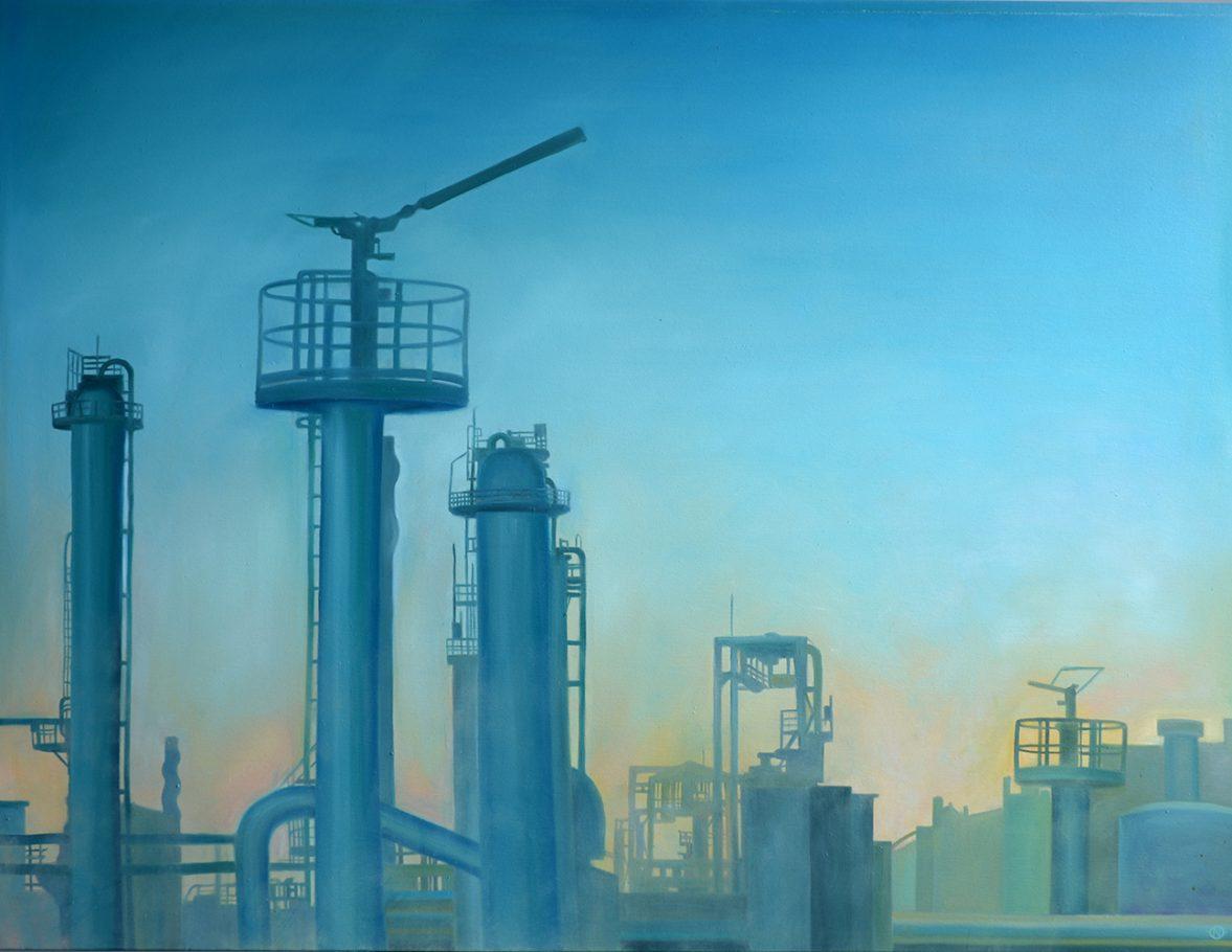Factory 1 120x150cm oil on canvas 2005/2016