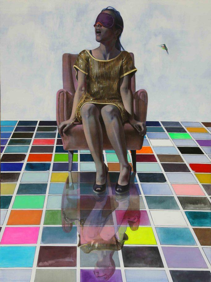 """Alex Kiessling """"Kolibri"""" Acrylic on canvas 200x150cm 2012"""
