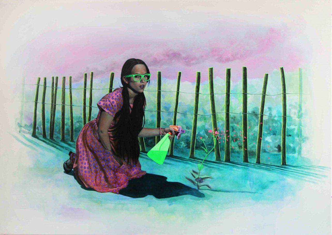 "Alex Kiessling ""Superkill"" 280x200cm acrilyc on canvas 2011"